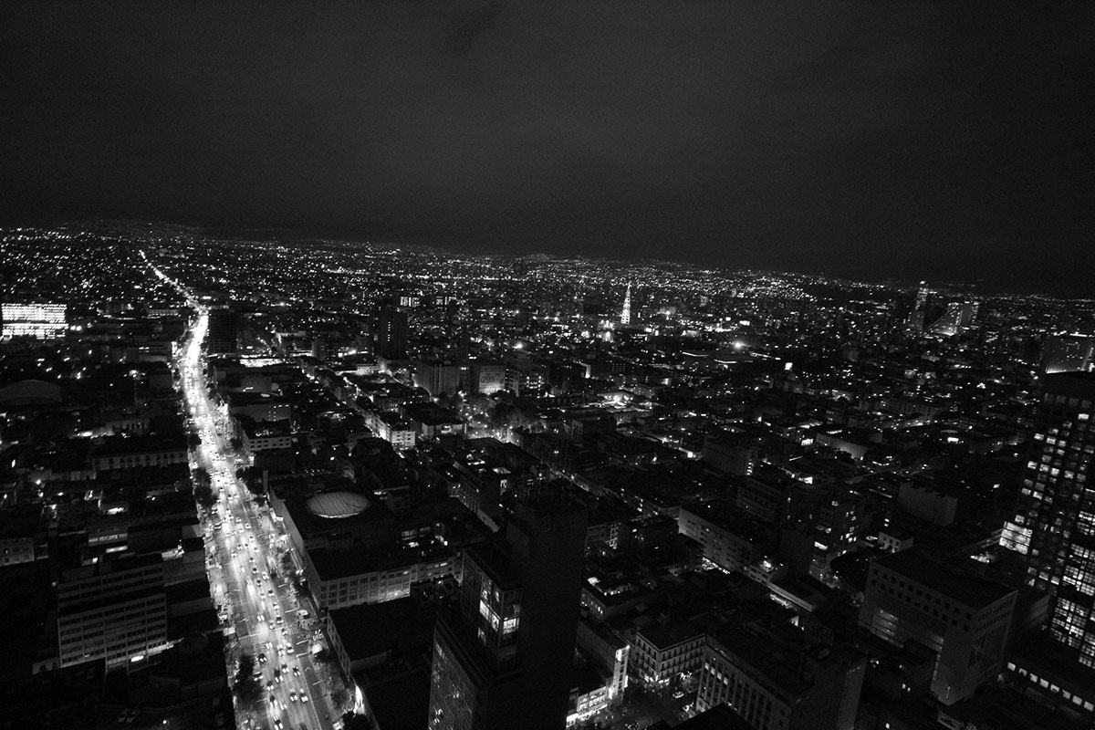 Mexico City at night.Alberto Millares/México D.F.4 November 2011