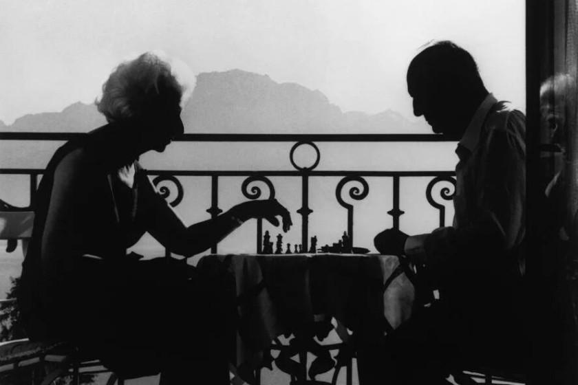 (Vladimir y Vera Nabokov, Suiza 1966 © Philippe Halsman)
